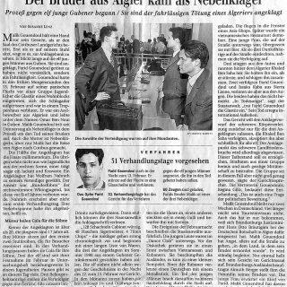 Zeitungsbericht der Berliner Zeitung vom 04.06.1999 zum Prozess der fahrlässigen Tötung eines Algeriers in Guben